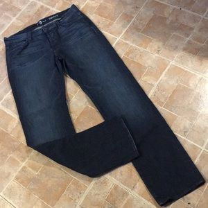 7 for all mankind straight leg jeans size 34/32
